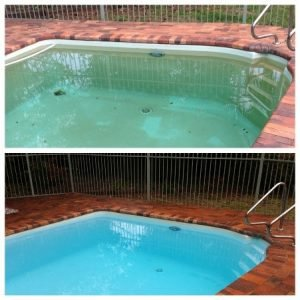 Iron stains in swiming pool