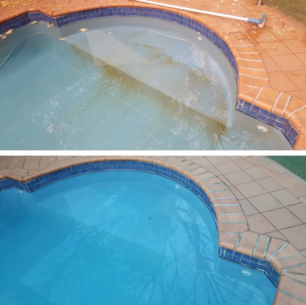 salt stains in swimming pool